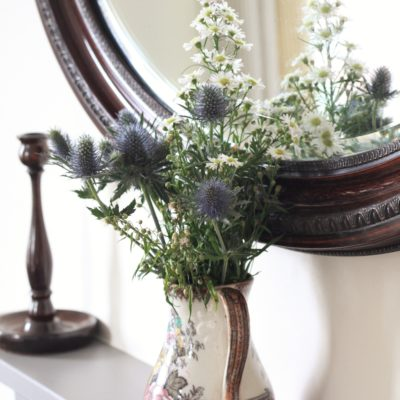 Flowers on Mantlepiece