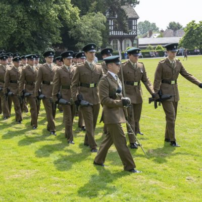 The Rifles march through The Grange
