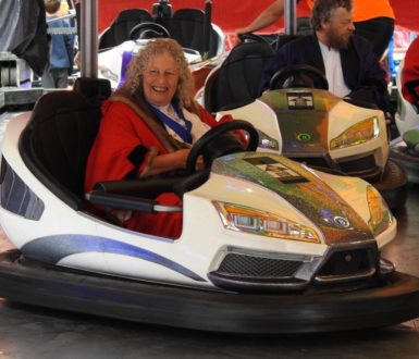 Mayor enjoying the Dodgems